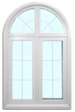 Window with arch top